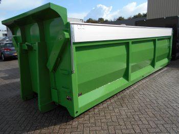 Kipper afzetcontainer met 90 gradel aluminium dak