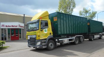 Bouw afval containers voor haak of kabel systeem.