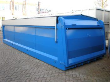 Haakarm container uit slijtvaste plaat