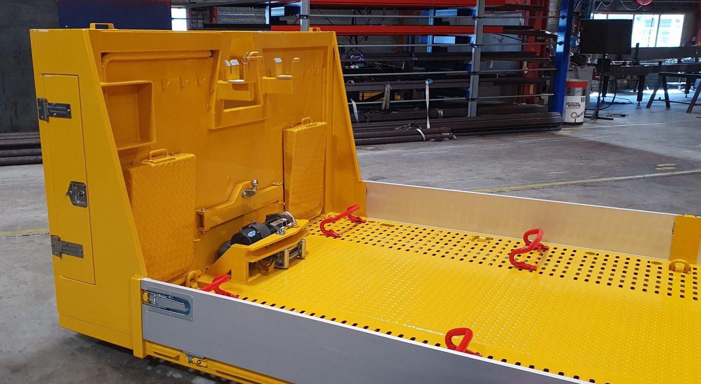 Autoberging plateau geschikt voor voertuig of machinetransport