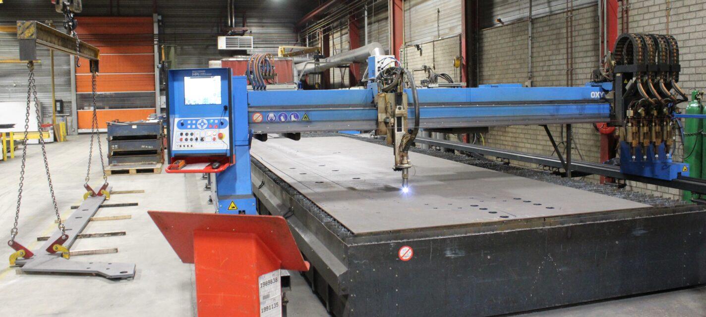 Plasma autogeen CNC snijtafel 12 x 3 meter bed afmeting